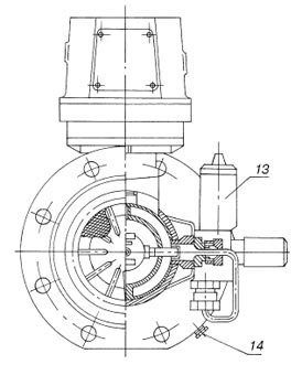 Турбинные счетчики газа СГ-16(МТ)100–4000 схема