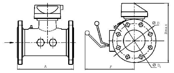 Турбинные счетчики газа TRZ (G65-G4000) схема
