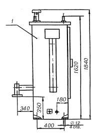 габаритный чертеж пункт учета расхода газа ПУРГ-100, ПУРГ-200, ПУРГ-400