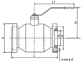 Кран шаровой 10с9пМ