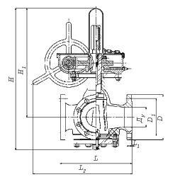 Краны пробковые стальные трехходовые с ручным приводом типа КТРП, КТС схема