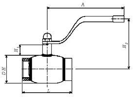 Стальные шаровые краны BROEN BALLOMAX схема присоединение резьбовое