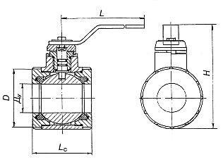схема кран шаровой межфланцевый ГШК