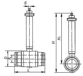 Кран шаровой для подземной установки