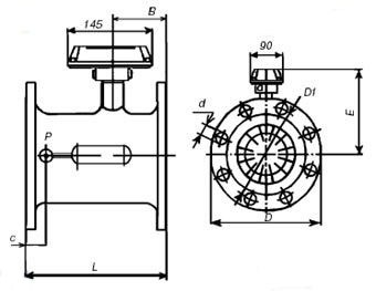 Турбинные счетчики газа СТГ 100-1600 схема