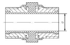 Вставка изолирующая UDI-GAS для внутридомовых газопроводов схема