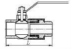 Изолирующие соединения с шаровым газовым краном схема