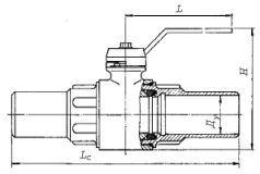 схема кран шаровый под приварку ГШК