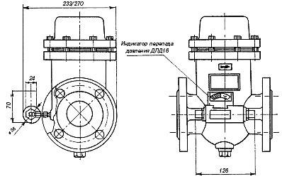 Фильтры газовые, оснащенные индикатором перепада давления