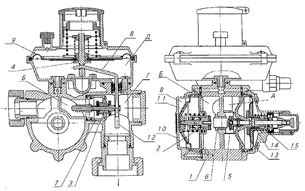 регулятор давления газа домовой ARD(FE) 10, ARD(FE) 25, ARD(FE) 40, ARD(FE) 50 схема