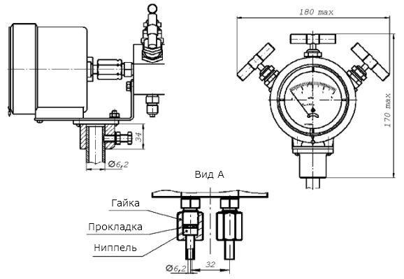 схема дифманометра стрелочного показывающего ДСП-80-РАСКО