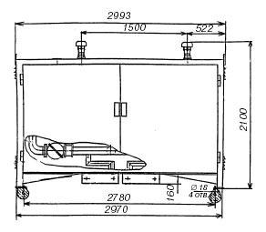 Пункт учета расхода газа ПУРГ-800(-ЭК), ПУРГ-1000(-ЭК), ПУРГ-1600(-ЭК), ПУРГ-2500(-ЭК) габаритный чертеж