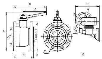 кран шаровой с ручным управлением МА 39010 неполнопроходной схема устройство