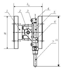 схема краны шаровый фланцевый регулируемый с ручным приводом