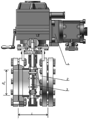 Заслонки дроссельные газовые с электроприводом для ГРП