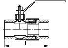 Изолирующие соединения с шаровым газовым краном схема вид