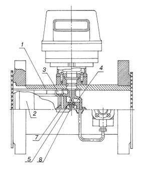 Турбинные счетчики газа СГ-16 МТ 100–4000 схема