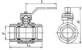 кран шаровый муфтовый газовый схема